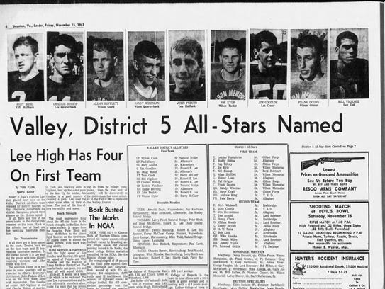 The News Leader's coverage of the 1963 Valley District