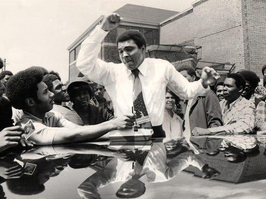 Muhammad Ali in Detroit in 1975