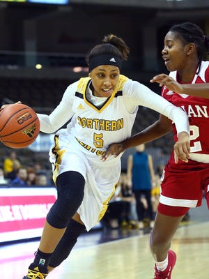 Samari Mowbray leads the Norse and ranked 14th in the Horizon League with 28 steals heading into the second half of the schedule