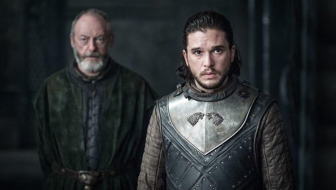 Davos and Jon in 'Game of Thrones' Season 7 Episode 3.