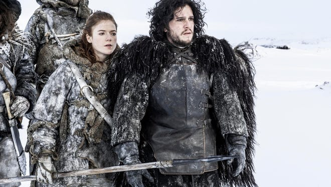 """Kit Harington and Rose Leslie in a scene from  """"Game of Thrones."""""""