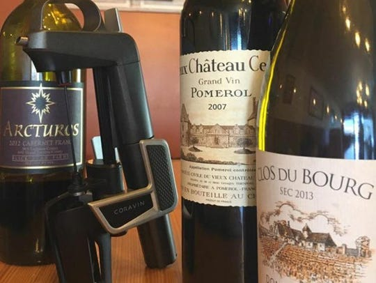 A coravin can extend the life of some bottles of wine