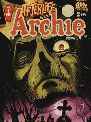 The cover for 'Afterlife with Archie Issue 1,' where zombies invade Riverdale.
