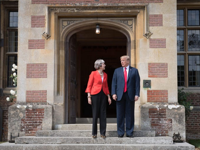 President Donald Trump and Britain's Prime Minister