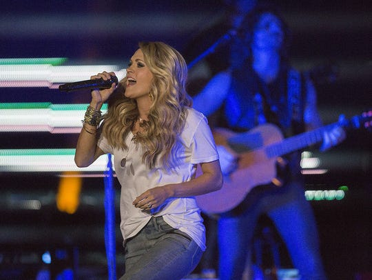 2015: Carrie Underwood at the Iowa State Fair Grandstand.