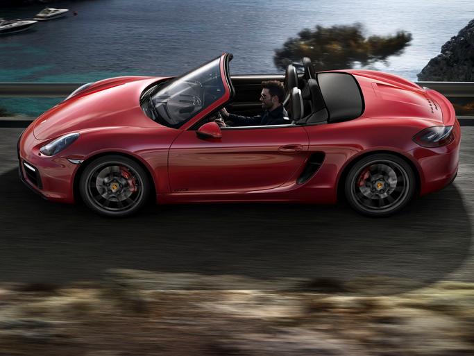 Porsche is showing the Boxster with a package to give it more horsepower