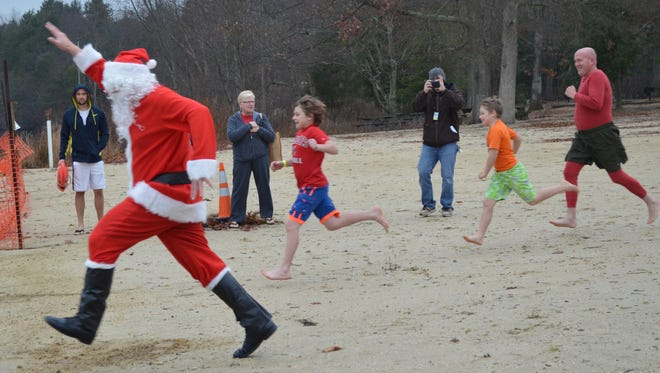 "The Parvin State Park Appreciation Committee announced that Santa will be ""plunging"" into Parvn Lake at 4 p.m. Dec. 3."
