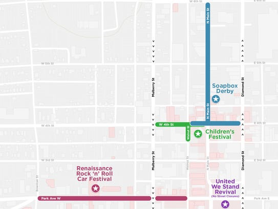 Four events will take place downtown Saturday, including