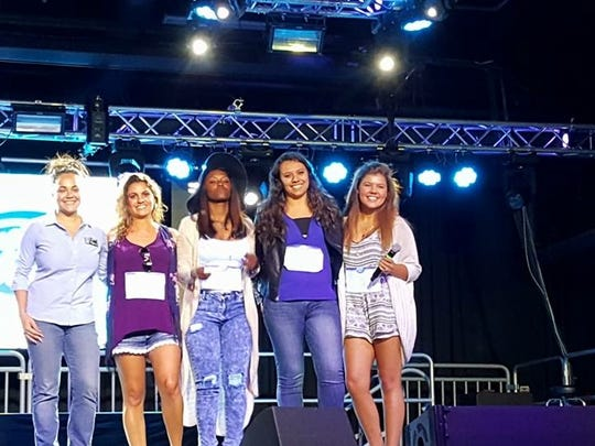 A submitted photo of Chandler Blueberg, right, taken Aug. 29, 2015 at the American Idol tryouts at Whitney Peak Hotel in Reno.