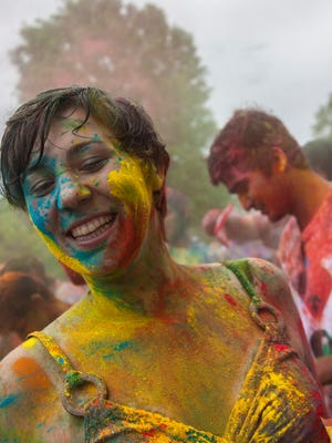 The Holi Festival is a Hindu celebration of Spring which uses colored powders to symbolize good winning over evil.
