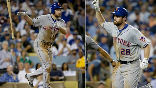 In last year's NLDS Game 5 as a member of the Mets, Daniel Murphy was a one-man show in defeating the Dodgers. He'll face the Dodgers again Thursday night in another NLDS Game 5, this time with the Nationals. (AP File Photo/Lenny Ignelzi, File)