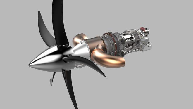 Rendering of GE Aviation's new turboprop engine.