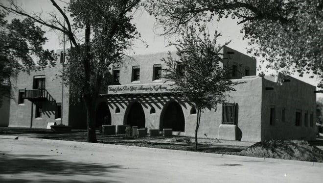 Newly constructed Federal Building (or post office) in Nov. 15, 1938. The building is now the Otero County Administration Building.