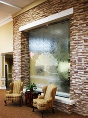 The water wall at the Health Center at Live Oak's North