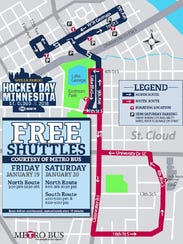 Metro Bus has two free shuttles available to get fans