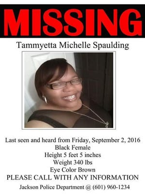Jackson Police Department is looking for Tammyetta Michelle Spaulding, who has been missing since Sept. 2.