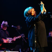 Mavis Staples performs during The Musical Mojo of Dr. John: A Celebration of Mac & His Music at the Saenger Theatre on May 3, 2014 in New Orleans, Louisiana.  (Photo by Skip Bolen/Getty Images for Blackbird Productions)