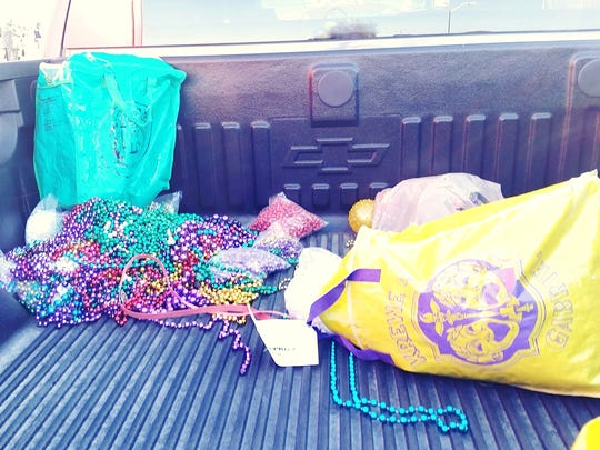 Each year, LARC collects Mardi Gras bead donations