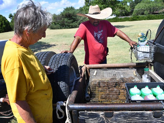 Prairie Dog specialist Lynda Watson and Louis Martinez