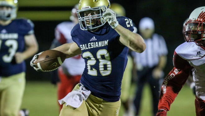 It's another Reeder touchdown run, as he leads the Sals to a 76-56 victory.