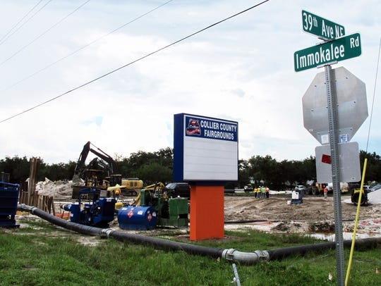 The construction on the corner of the Collier County