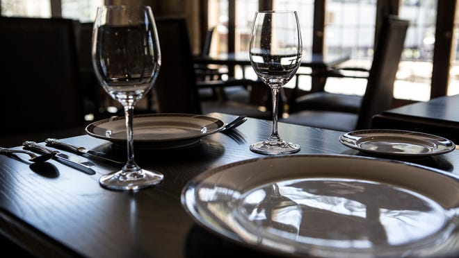 A sample place setting in the newly renovated Granville Inn.