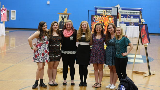 Auburndale High School held their annual art show on May 7 and 8. The show featured pieces from many students, as well as the complete works of the AP and Independent Study Art students Jenaya Paun, from left, Sierra Willfarht, Tiana Helgemo, Taylor de Boer, Hunter Hilber, Makayla Pflugradt and Readie Meyer. This was a great exhibit, showcasing the many talented and creative art students.
