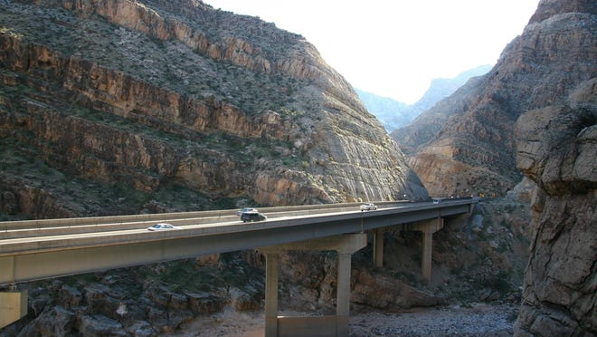 The Arizona Department of Transportation has opened the portion of Interstate 15 that runs through the Virgin River Gorge.
