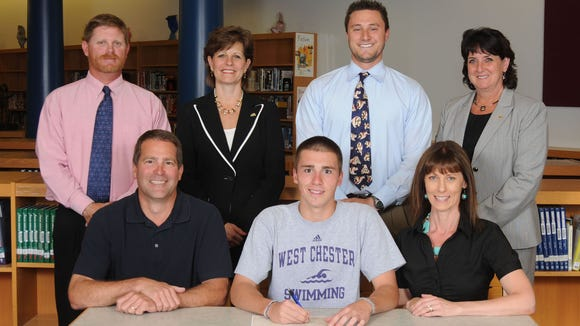 West York Official Signing-Brad Strathmeyer-West Chester University-Swimming