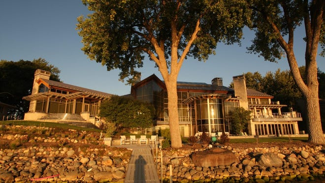 The house known as Peace Harbor sits on 178 feet of West Lake Okoboji shoreline.
