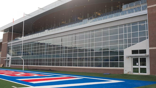 In this 2015 file photo, the Davison Athletics Complex is pictured at Joe Aillet Stadium. The end zone facility opened a year ago this weekend.