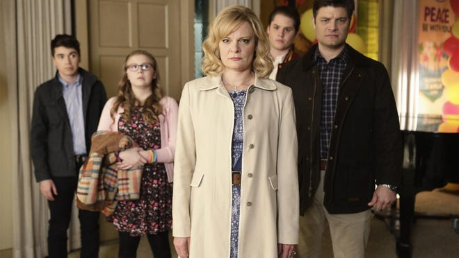 """""""The Real O'Neals"""" (8:30 and 9:30 p.m. March 2; regular time slot: 8:30 p.m. Tuesday starting March 8): One of the season's better new comedies starring Martha Plimpton, as matriarch of an Irish-Catholic family with a gay son."""