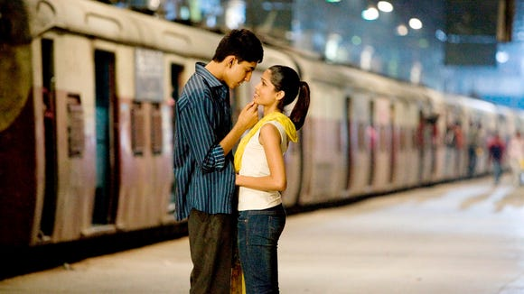 "Dev Patel and Freida Pinto find love and a dance sequence at the end of ""Slumdog Millionaire."""