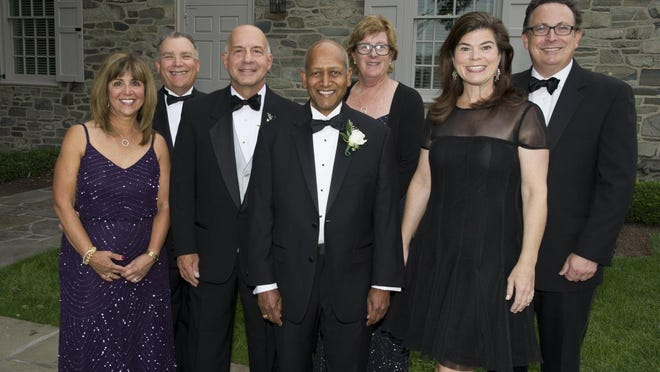 From left, Diamond Gala co-chairs Rita and Barry Rothfeld; Honorees Dr. Frank Pedevillano and Dr. Mohan Sarabu, Vassar Brothers Medical Center President Ann McMackin and Diamond Gala co-chairs Elizabeth and Dr. Ethan Gundeck.