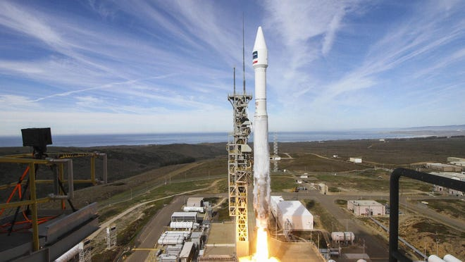 An Atlas V rocket blasts off at 1:30 p.m. EST Friday from Vandenberg Air Force Base in California with DigitalGlobe's WorldView-4 commercial imaging satellite. It's been more than two months since a rocket took flight from Cape Canaveral, but Saturday, United Launch Alliance will attempt to resume its local manifest.