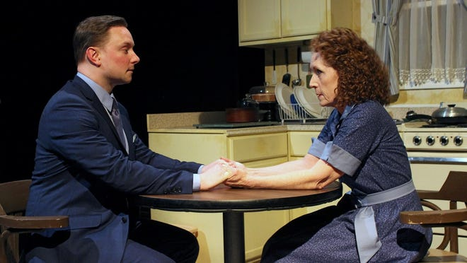 "Steve Wojtas and Brenda Lane in the World Premiere of ""To Quiet The Quiet"" by Christy Hall at the Williamston Theatre."