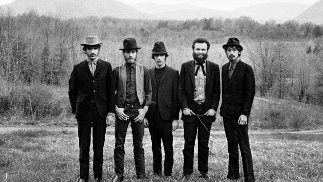 From left to right: Rick Danko, Levon Helm, Richard Manuel, Garth Hudson, Robbie Robertson.