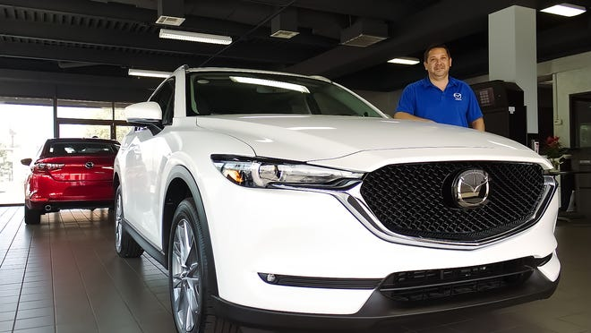 Montrose Mazda General Manager and Owner Jeremy Eisenberg said SUVs, like the CX5, and a campaign by Mazda to compete with luxury vehicles on quality while containing costs have helped fuel growth at the dealership. He also credited loyal customers.