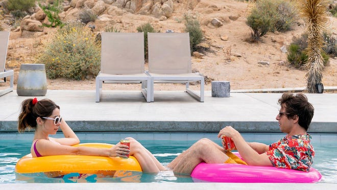 "Cristin Milioti and Andy Samberg in a still from ""Palm Springs"""