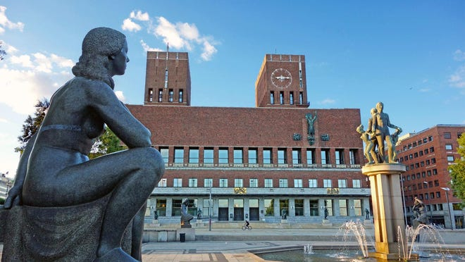 Oslo's City Hall, with stirring murals and art that depict Norway's history.