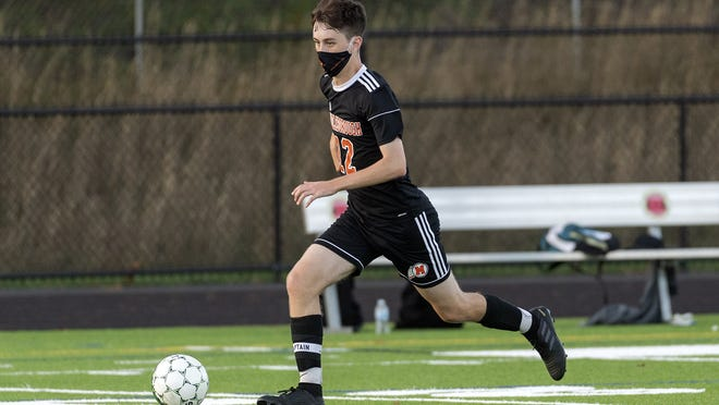 Middleboro's Matt Farley controls the ball and leads the offensive attack during a 6-4 win for the Sachems over Abington on Wednesday.