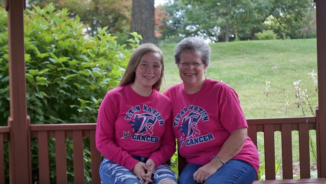 Kathy Norris, right, of Monmouth was diagnosed with breast cancer in March 2019. Early detection and advanced treatment improved her prognosis. Pictured with her daughter Macy.