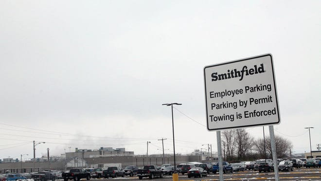 FILE: Though only three COVID-19 cases at Monmouth's Smithfield Foods pork-processing plant were ever made public, newly obtained state data show 188 cases at the facility over time.