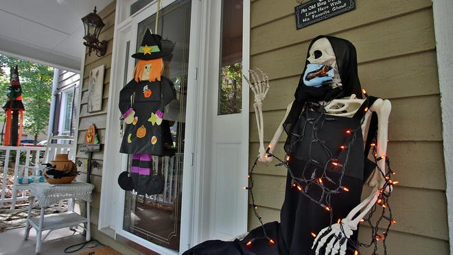 Halloween decorations around a home on Wimbledon Drive in the Southampton neighborhood in Gastonia Tuesday afternoon, Oct. 20, 2020.