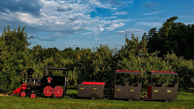 The Apple Express train at Mountain Fresh Orchards in Hendersonville.