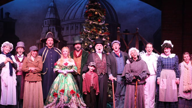 "A scene from Broadway Palm's ""A Christmas Carol"""