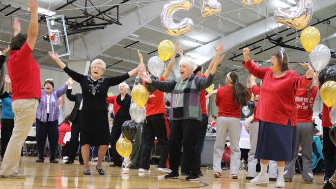 The Sandusky County YMCA will hold another Noon Year's Eve celebration on Dec. 31, like this party held in 2015.