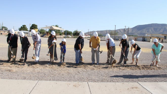 Alamogordo Public Schools officials hosted a groundbreaking ceremony for their new Sunset Hills Elementary School on 10th Street Thursday.