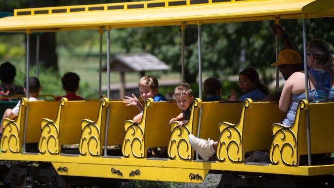 Children and adults will be able to ride the mini-train at Gage Park for $1 each Tuesday during July as part of Parks and Recreation Month.