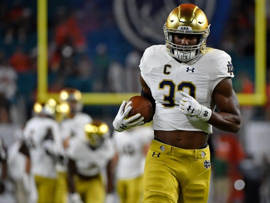 Notre Dame RB Josh Adams's production has slowed the
